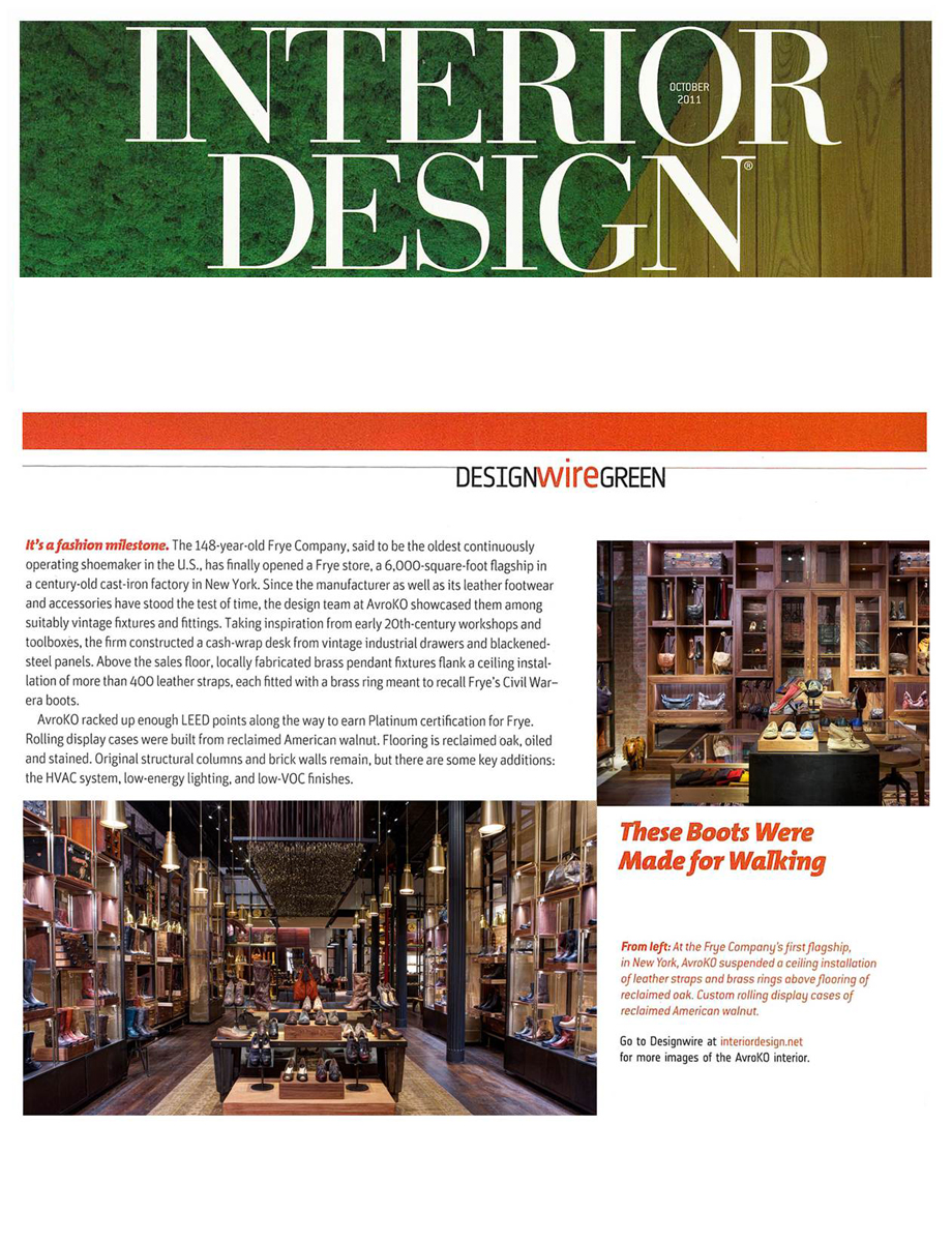 Interior design magazine avroko a design and concept firm Interior magazine